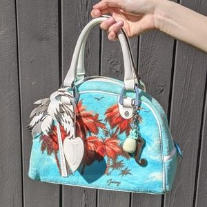 Not for sale right now - Tropical sky blue Juicy Couture terry cloth bowler bag
